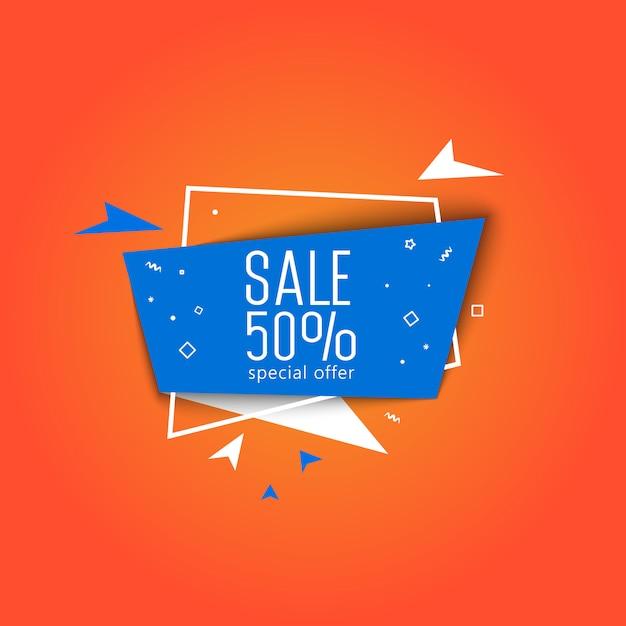 Special offer super sale banner vector illustration. Premium Vector