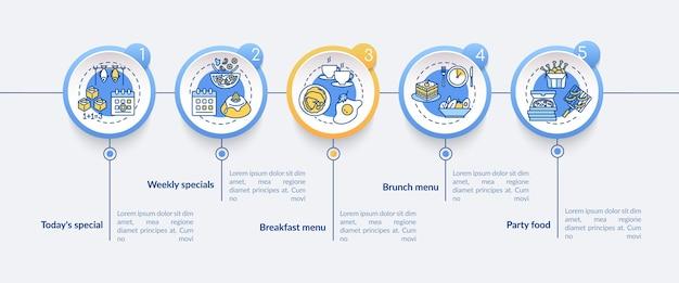 Специальные предложения инфографики шаблон. элементы презентации ограниченного питания. Premium векторы