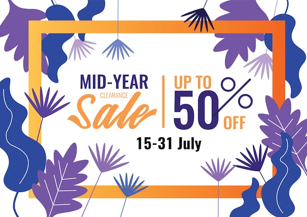 b94a8f3dd7d39 Special offers and promotion banner. mid year sale, summer sale ...