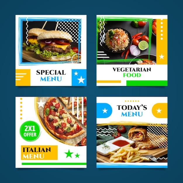Специальная подборка меню ресторана Premium векторы