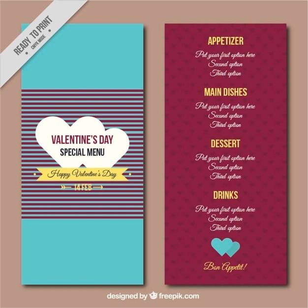 Special retro menu of valentine vector free download special retro menu of valentine free vector stopboris Choice Image