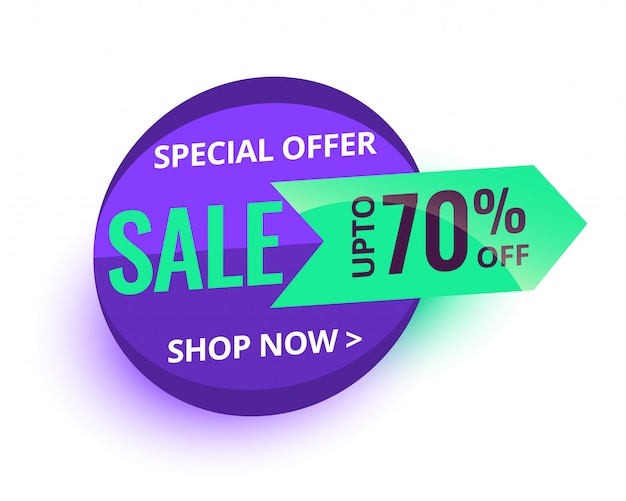 Special sale offer and price tag banner design Free Vector