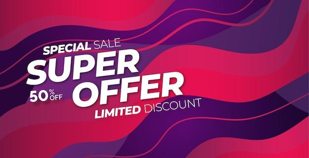 Super offerta di vendita speciale con astratto colorato Vettore gratuito