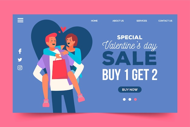 Special sales available on valentines day Free Vector