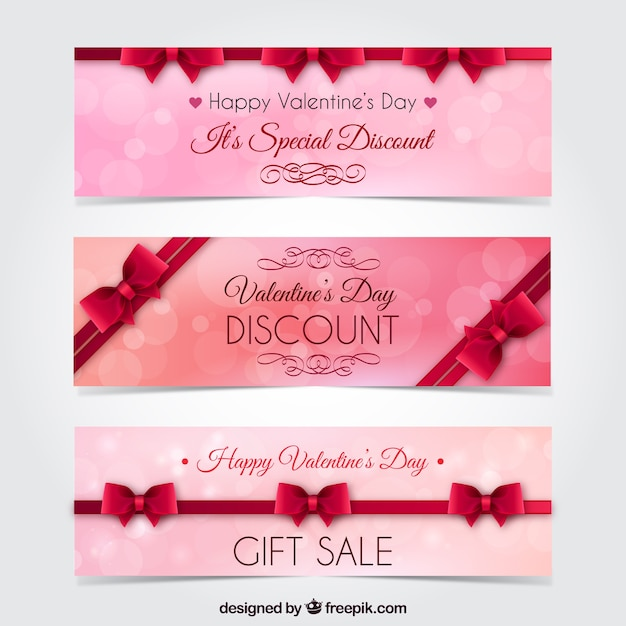 Special valentine day banners Vector | Free Download