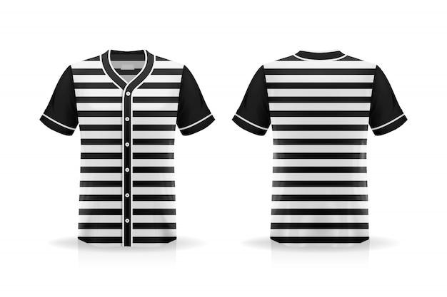 Specification baseball t shirt mockup  isolated on white background Premium Vector
