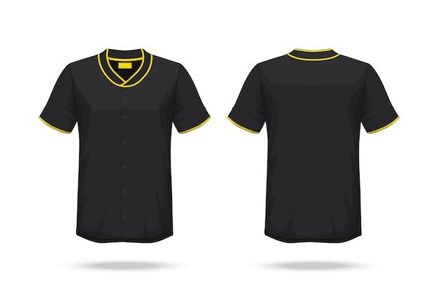 specification baseball t shirt mockup vector premium download
