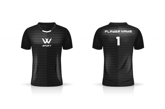 Спецификация футбол спорт, esport gaming t футболка джерси шаблон. униформа. иллюстрация Premium векторы