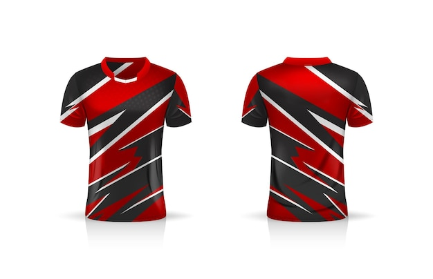 Спецификация soccer sport, шаблон майки esport gaming t shirt jersey. Premium векторы