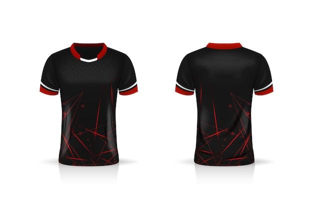 Спецификация soccer sport, шаблон майки esport gaming t shirt jersey. Premium векторы