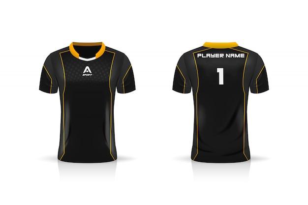Спецификация soccer sport, шаблон esports gaming t shirt из джерси. униформа. иллюстрация Premium векторы