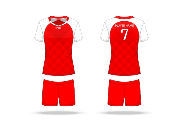Specification volleyball jersey isolated on white background Premium Vector