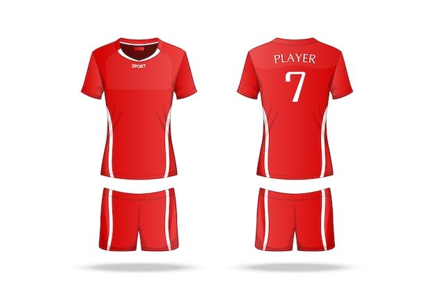 Specification volleyball jersey Premium Vector