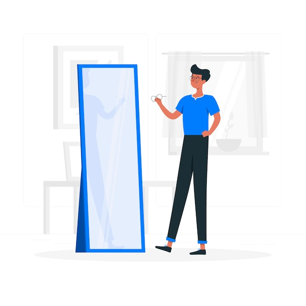 Specs concept illustration Free Vector
