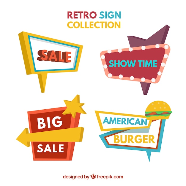 Spectacular vintage sign collection