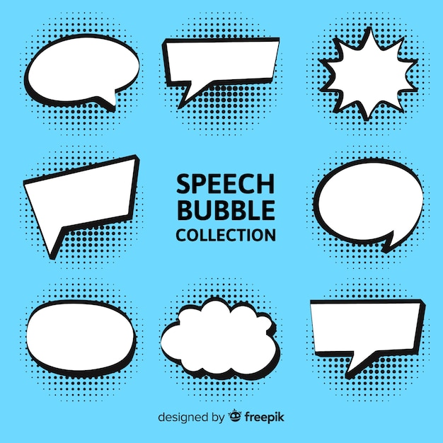 Speech bubble collection Free Vector