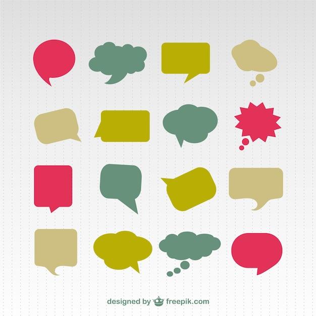 speech bubble colorful set vector | free download