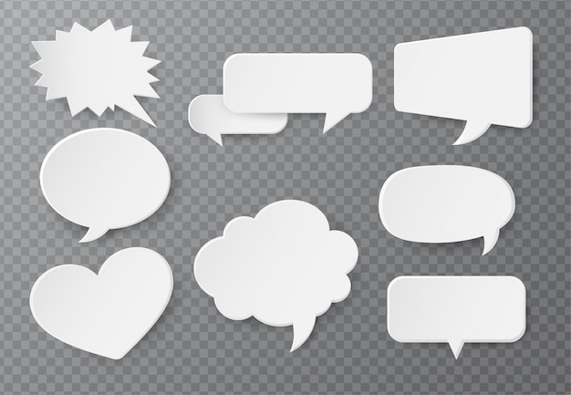 Speech bubble of paper for text input Premium Vector