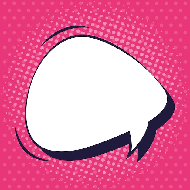 Speech bubble pop art style Premium Vector