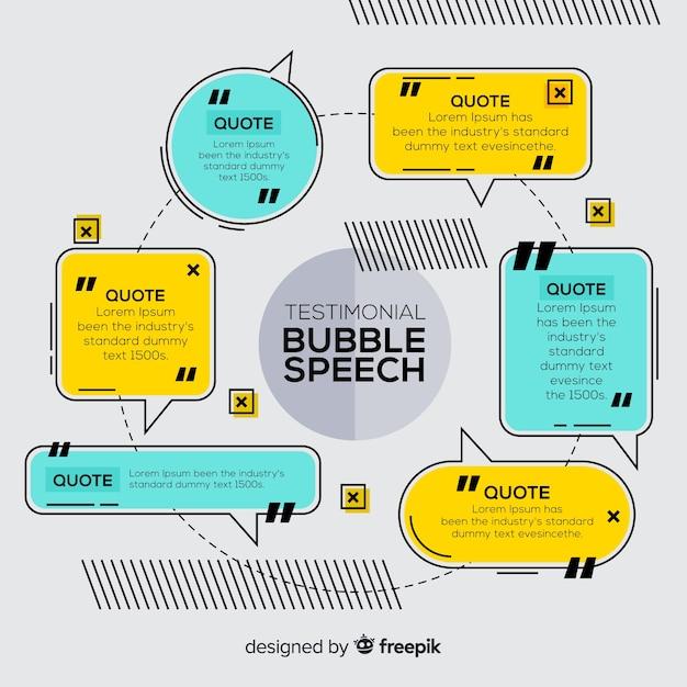 Testimonial a forma di bolla di discorso Vettore gratuito