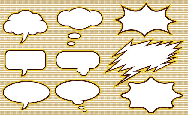 speech bubble template collection vector free download