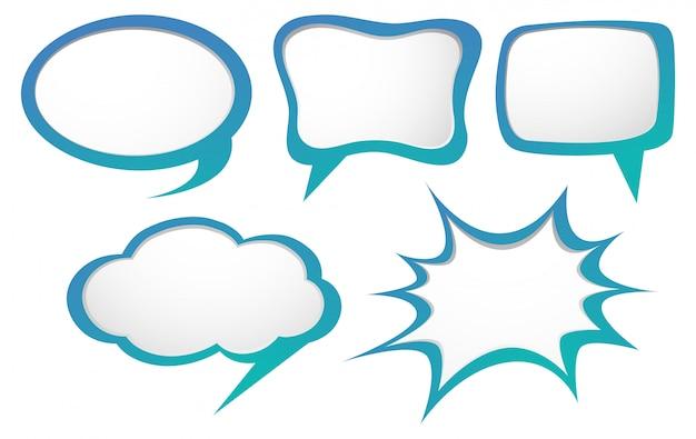 Contemporary Speech Bubble Templates Festooning - Resume Ideas ...