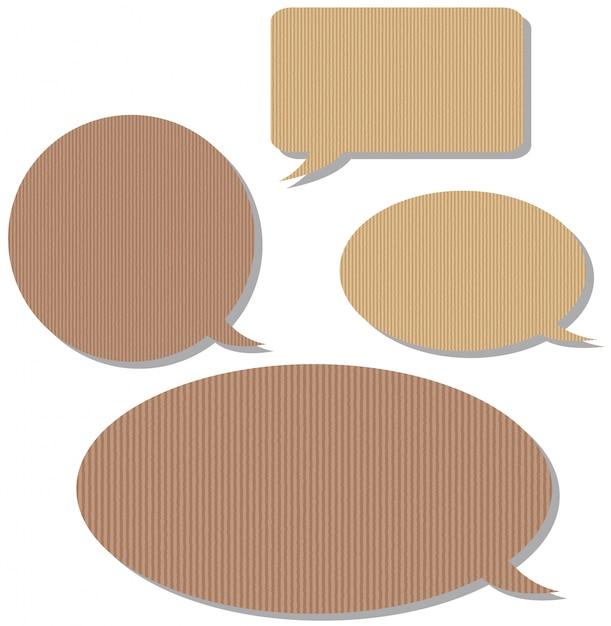 Speech bubble templates with cardboard texture Vector | Premium Download