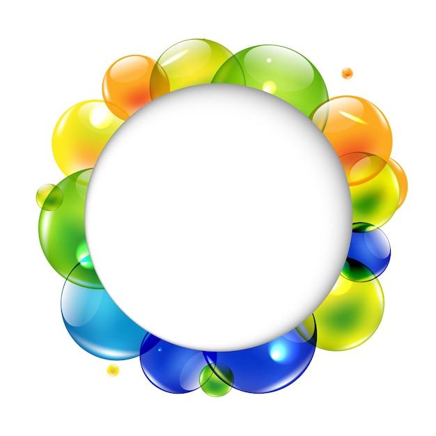 Речи пузырь с цветными шариками, изолированные на белом фоне, Premium векторы
