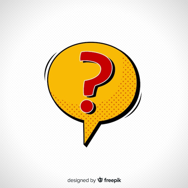 Speech bubble with question mark Free Vector