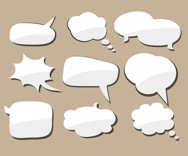 Speech bubble. Premium Vector