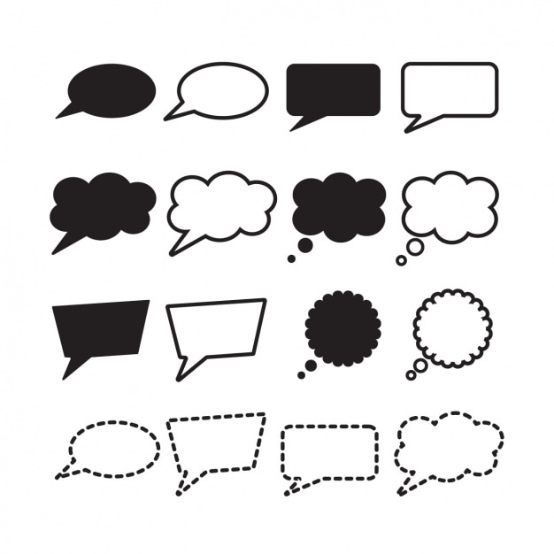 Speech bubbles collection Free Vector