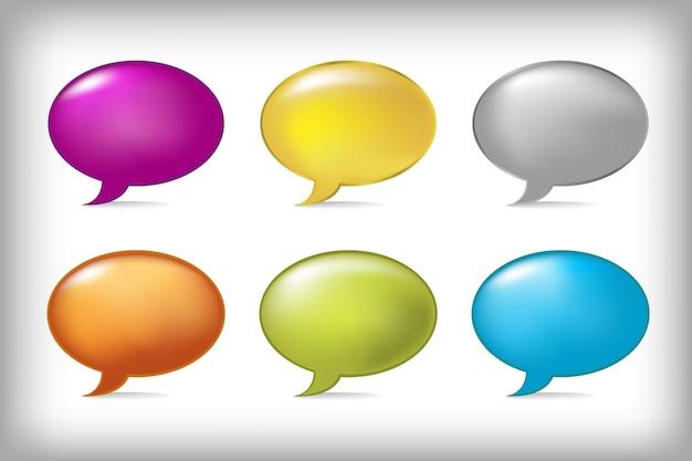 Speech bubbles,  on grey background,  illustration Premium Vector