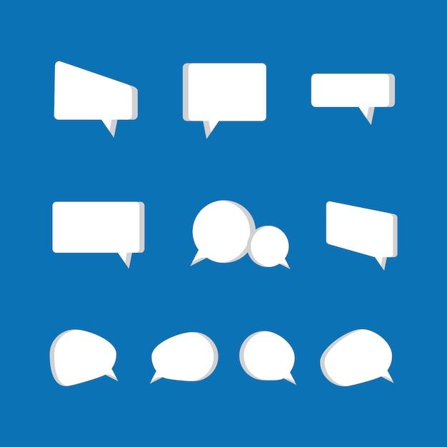 Speech bubbles icon set Premium Vector