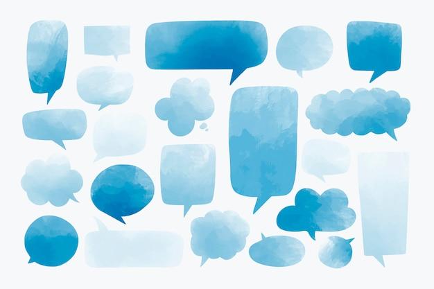 Speech bubbles set Free Vector