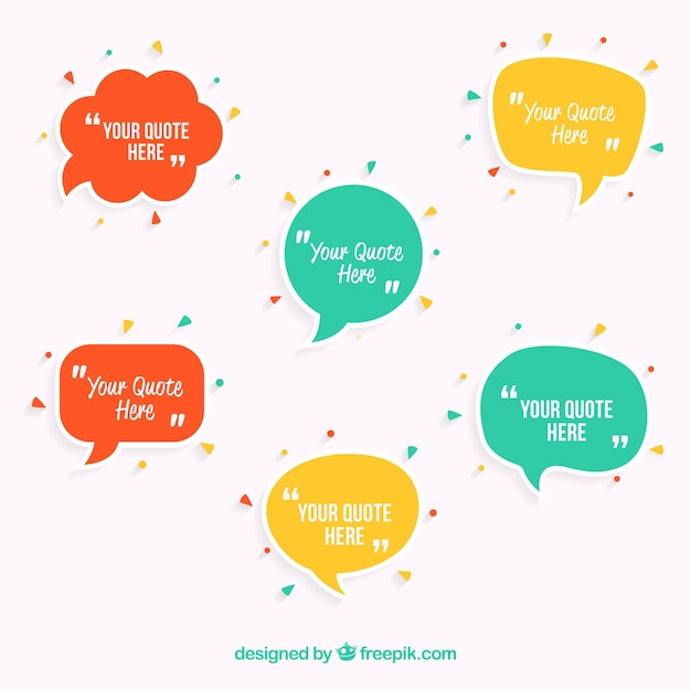 speech bubbles template vector free download
