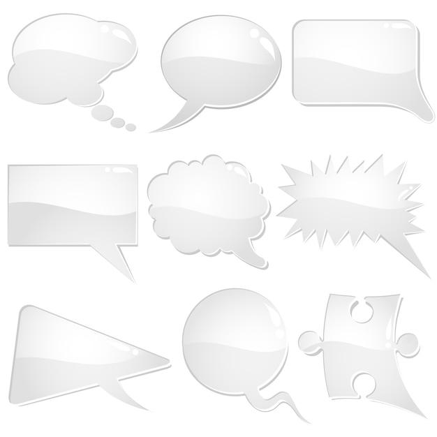 Speech bubbles Premium Vector
