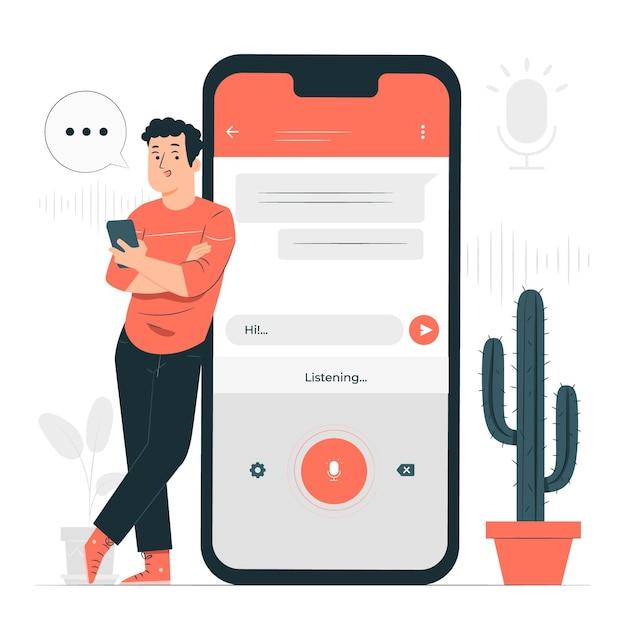 Speech to textconcept illustration Free Vector