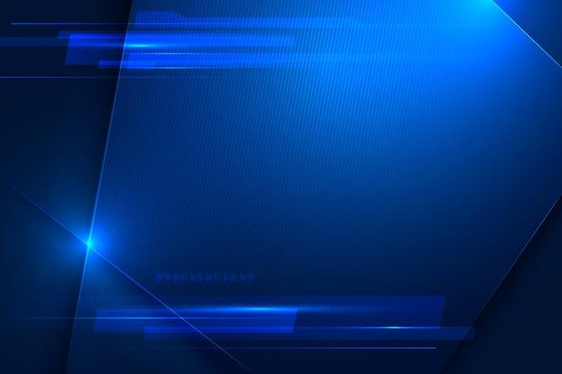 速度と動きの未来的な青色の背景 Premiumベクター