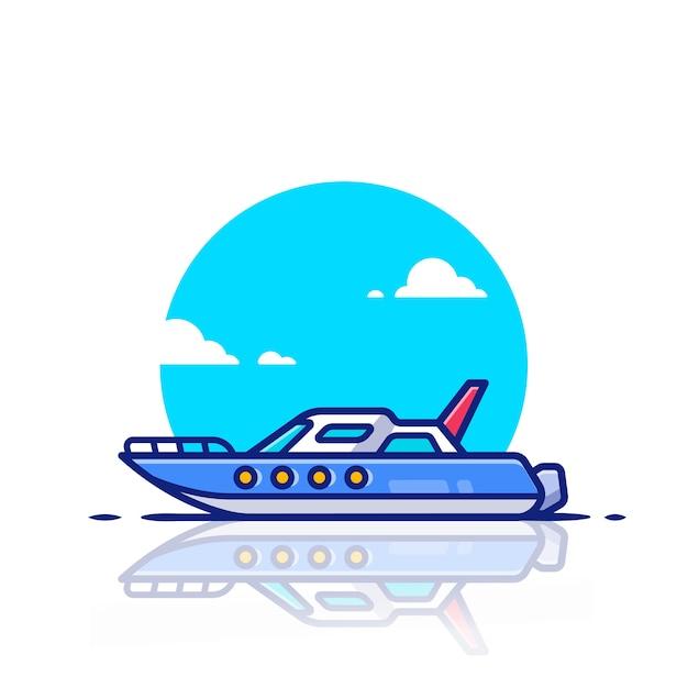 Иллюстрация значка скоростной лодки. концепция водного транспорта значок. Premium векторы
