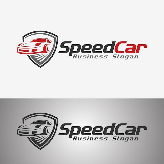 Speed car auto logo Premium Vector