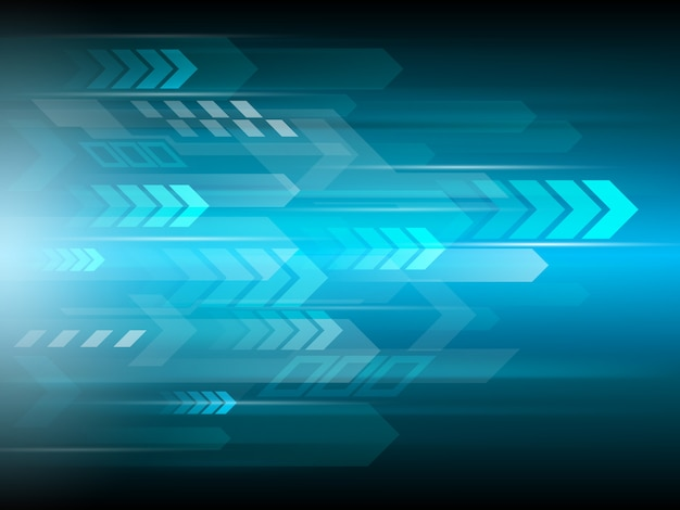 Speed communication abstract technology background Vector ...