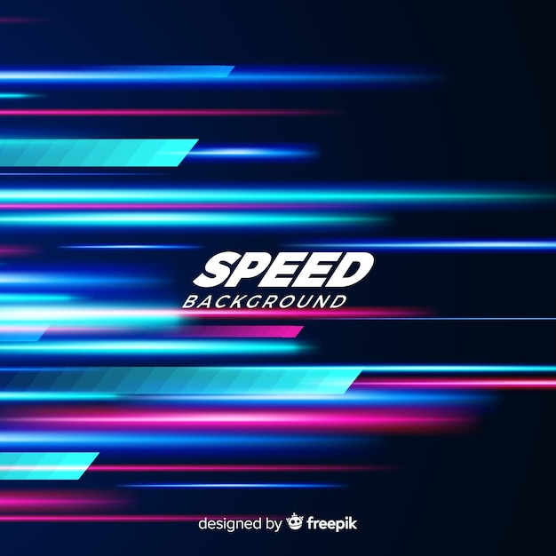 Speed effect background Free Vector