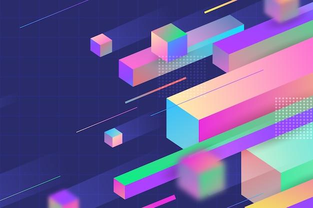 Pagina di destinazione 3d di forme geometriche di velocità Vettore gratuito