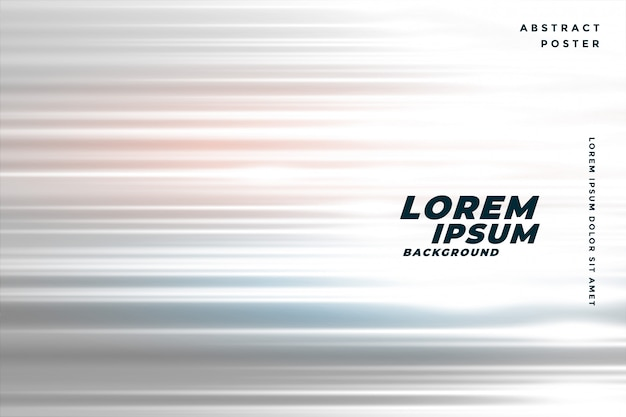 Speed horizontal lines background with light effect Free Vector