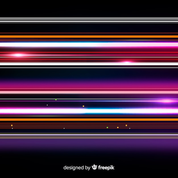 Speed light trail background Free Vector