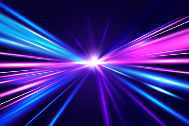 Speed lights background concept Free Vector