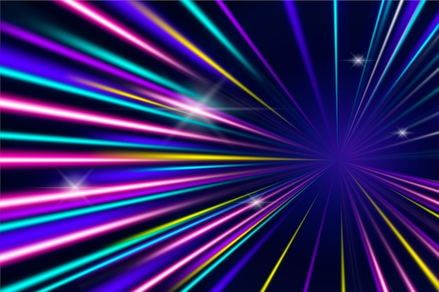Speed lights background Free Vector