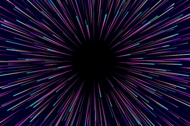Скоростные огни дождя темного фона Premium векторы