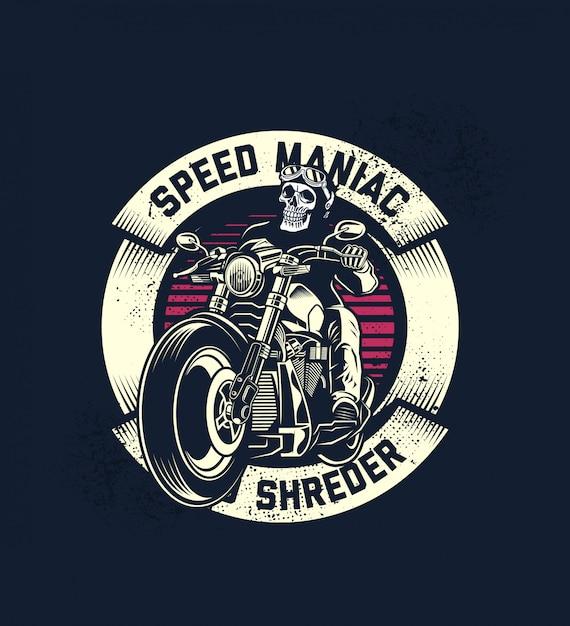 Speed maniac Premium Vector