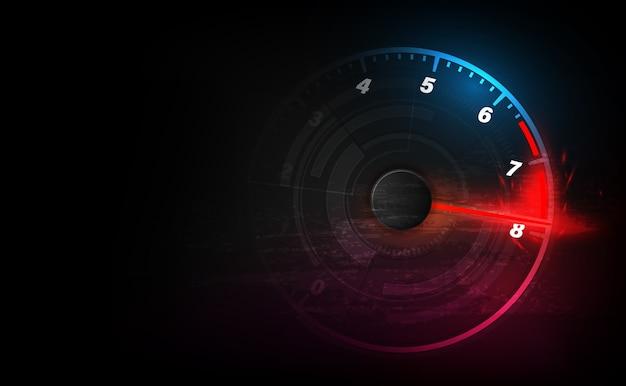 高速スピードメーター車でモーション背景をスピードアップします。レーシング速度の背景。 Premiumベクター